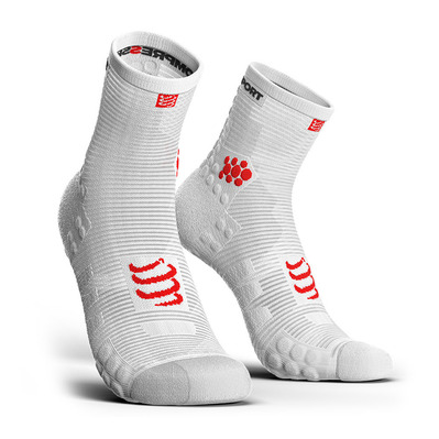 COMPRESSPORT - PRORACING V3 RUN HIGH - Chaussettes white