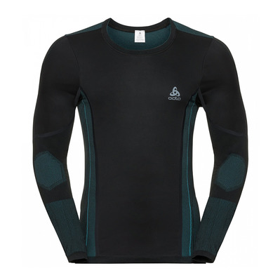 ODLO - VENT WINDSHIELD - Maglia termica Uomo black/lake blue