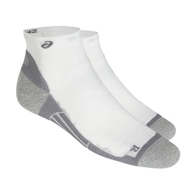 ASICS - ROAD QUARTER - Chaussettes performance real white