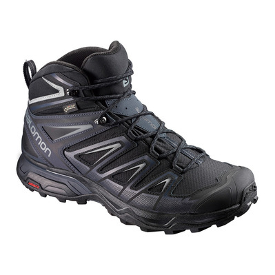 SALOMON - X ULTRA 3 MID GTX - Chaussures randonnée Homme black/india ink/monument