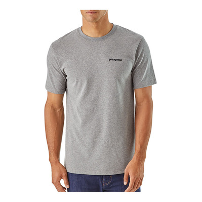 PATAGONIA - P-6 LOGO RESPONSIBILI - T-Shirt - Men's - gravel heather