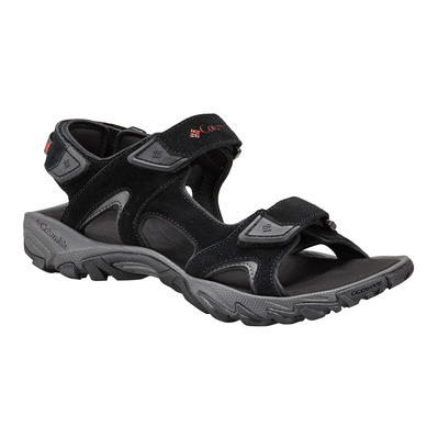 COLUMBIA - SANTIAM 3 STRAP - Sandals - Men's - black/mountain red