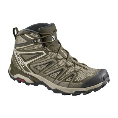 SALOMON - X ULTRA 3 AERO - Hiking Shoes - Men's - vintage khaki/wren