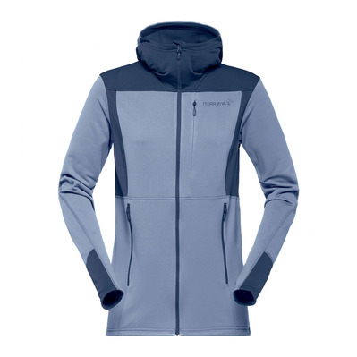 NORRONA - Hooded Polartec® Fleece - Women's - FALKETIND WARM1 bedrock