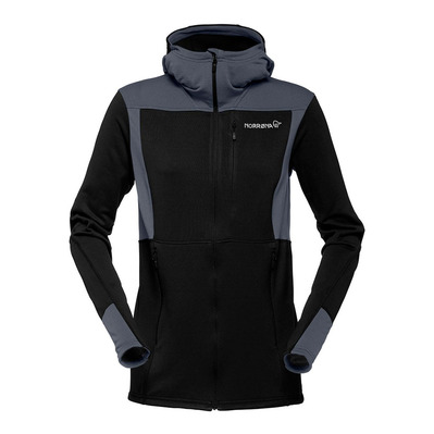 NORRONA - Hooded Polartec® Fleece - Women's - FALKETIND WARM1 caviar