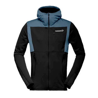 NORRONA - Hooded Polartec® Fleece - Men's - FALKETIND WARM1 caviar