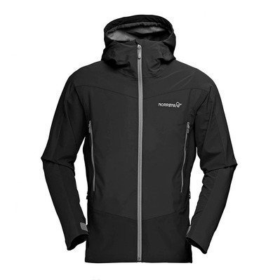 NORRONA - Gore Windstopper® Hooded Jacket - Men's - FALKETIND HYBRID caviar