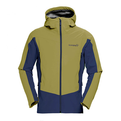 NORRONA - Gore Windstopper® Hooded Jacket - Men's - FALKETIND HYBRID olive drab