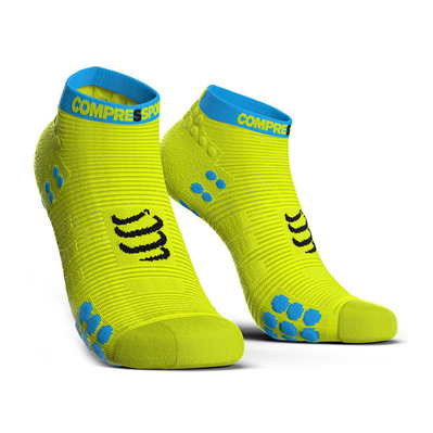 COMPRESSPORT - PRO RACING V3.0 RUN LOW - Chaussettes fluo yellow