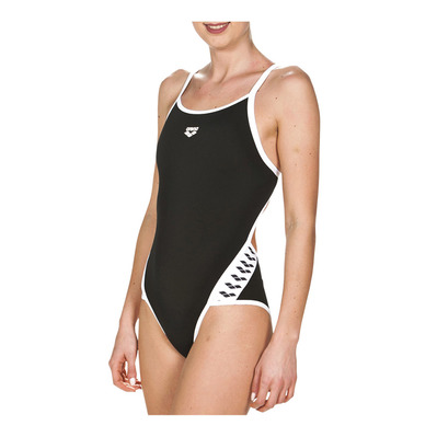 ARENA - TEAM STRIPE SUPER FLY BACK - Bañador mujer black/white
