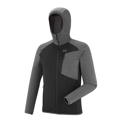MILLET - SENECA TECNO HOODIE - Fleece - Men's - h tarmac/black