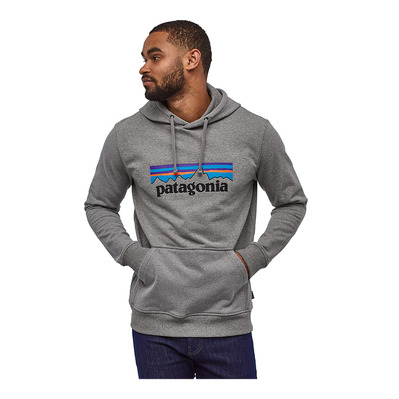 PATAGONIA - P-6 LOGO UPRISAL HOODY - Sweat Homme gravel heather