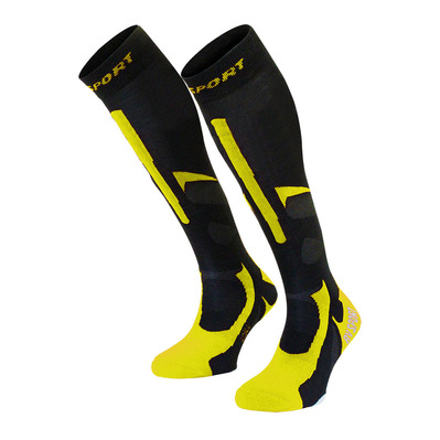 BV SPORT - SLIDE PRO EVO - Calcetines black/yellow