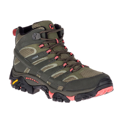 MERRELL - MOAB 2 MID GTX - Hiking Shoes - Women's - beluga olive