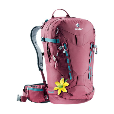 DEUTER - FREERIDER PRO 28L - Backpack - Women's - burgundy