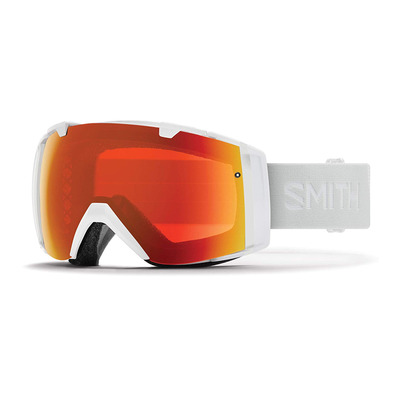 SMITH - I/O - Masque ski white vapor/chromapop everyday red mirror