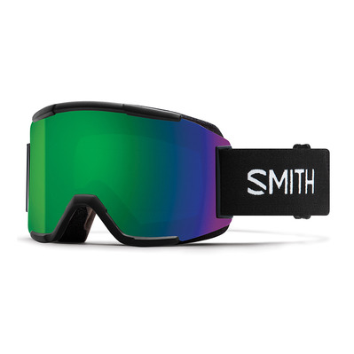 SMITH - SQUAD - Ski goggles - black/chromapop everyday green mirror + yellow