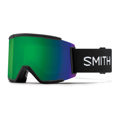 SMITH - SQUAD XL - Ski Goggles - black/chromapop everyday green mirror