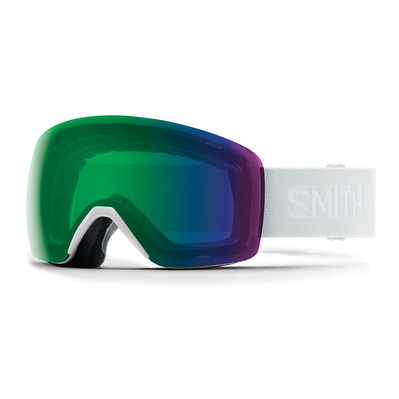SMITH - SKYLINE - Masque ski white vapor/chromapop everyday green mirror