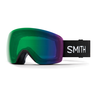 SMITH - SKYLINE - Ski Goggles - black/chromapop everyday green mirror