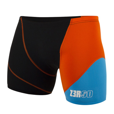 Z3ROD - BOXER - Swimming Trunks - Men's - black/atoll/orange