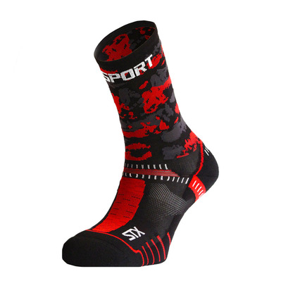 BV SPORT - STX EVO COLLECTOR ARMY - Chaussettes noir/rouge