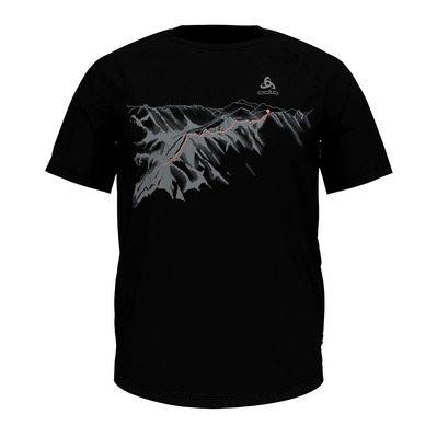 ODLO - CONCORD - T-shirt Uomo black/mountain print