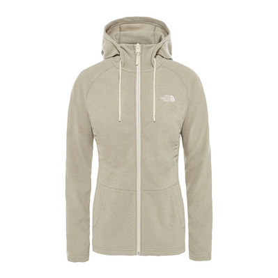 THE NORTH FACE - MEZZALUNA - Fleece Frauen silt grey stripe