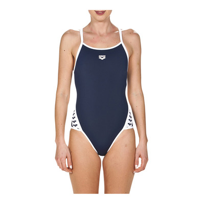 ARENA - TEAM STRIPE SUPER FLY BACK - Bañador mujer navy/white