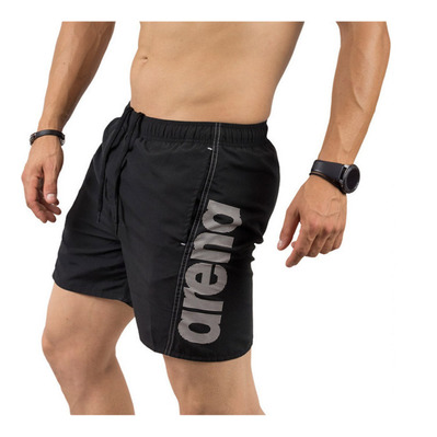 ARENA - FUNDAMENTALS ARENA LOGO - Swimming Shorts - Men's - black/white