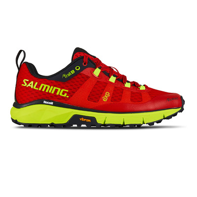 SALMING - TRAIL T5 - Chaussures trail Femme rouge/jaune