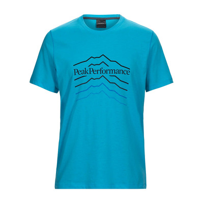 PEAK PERFORMANCE - EXPLORE HILL - T-Shirt - Men's - mosaic blue