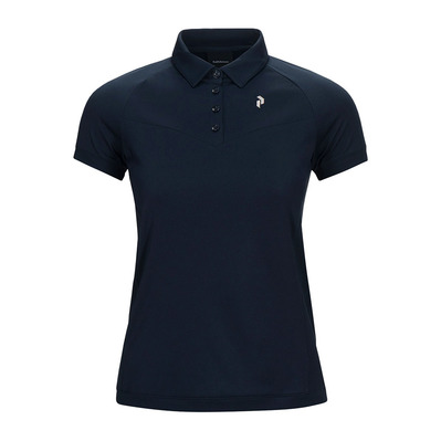 PEAK PERFORMANCE - VERSEC - Polo Femme blue shadow