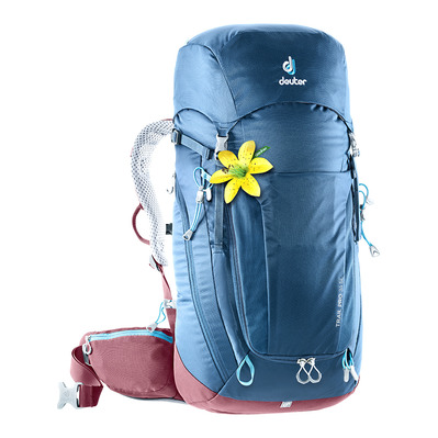 DEUTER - TRAIL PRO 34L - Backpack - Women's - night blue/raspberry