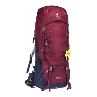 DEUTER - AIRCONTACT 50+10L - Backpack - Women's - blackberry/navy blue
