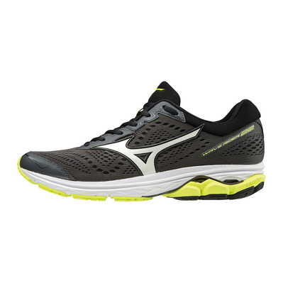 MIZUNO - WAVE RIDER 22 - Chaussures running Homme dark shadow/white/safety yellow