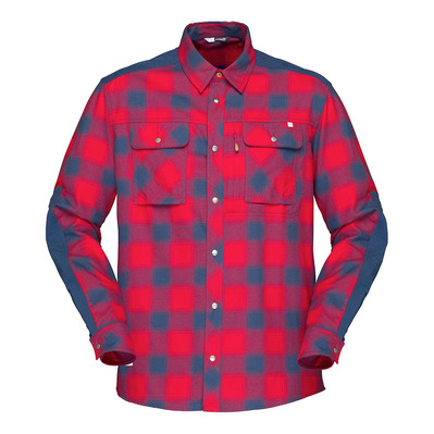 NORRONA - LS Shirt - Men's - SVALBARD FLANNEL jester red