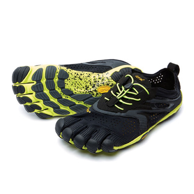 FIVE FINGERS - V-RUN - Chaussures running Homme noir/jaune