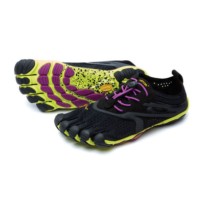 FIVE FINGERS - V-RUN - Zapatilla de running mujer black/yellow/purple