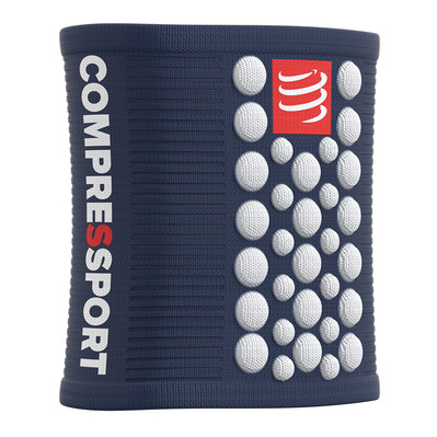 COMPRESSPORT - 3D.DOTS - Poignets-éponges blue/white
