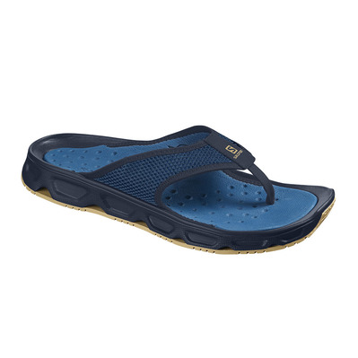SALOMON - RX BREAK 4.0 - Recovery Flip Flops - Men's - navy blaze/poseido