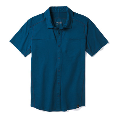 SMARTWOOL - MERINO SPORT 150 BUTTON DOWN - Shirt - Men's - alpine blue