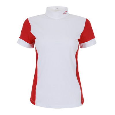 EQUILINE - HEATHER - Polo concours Femme fire red