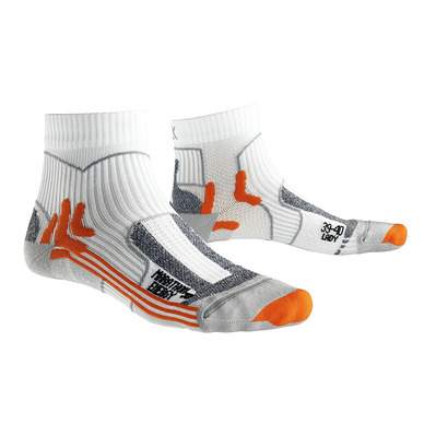 X-SOCKS - MARATHON ENERGY - Chaussettes blanc/orange/gris perle