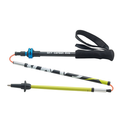 CAMP - SKY CARBON EVO - Hiking Poles - blue/yellow/black