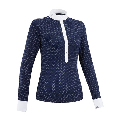HORSE PILOT - AEROLIGHT - Polo da concorso Donna navy dot