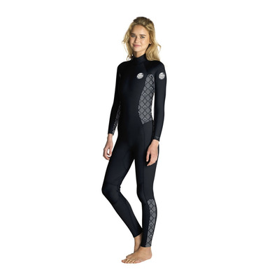 RIP CURL - DAWN PATROL - Combinaison 4/3mm Femme black/white