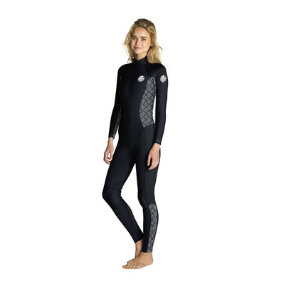 RIP CURL - DAWN PATROL - Traje 3/2mm mujer black/white