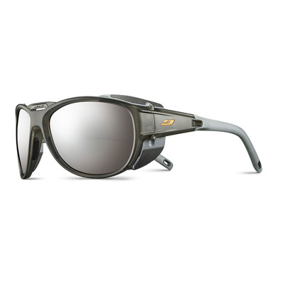 JULBO - EXPLORER 2.0 - Sunglasses - translucent matt grey/orange/flash silver