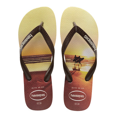 HAVAIANAS - HYPE - Tongs Homme sand grey/dark brown